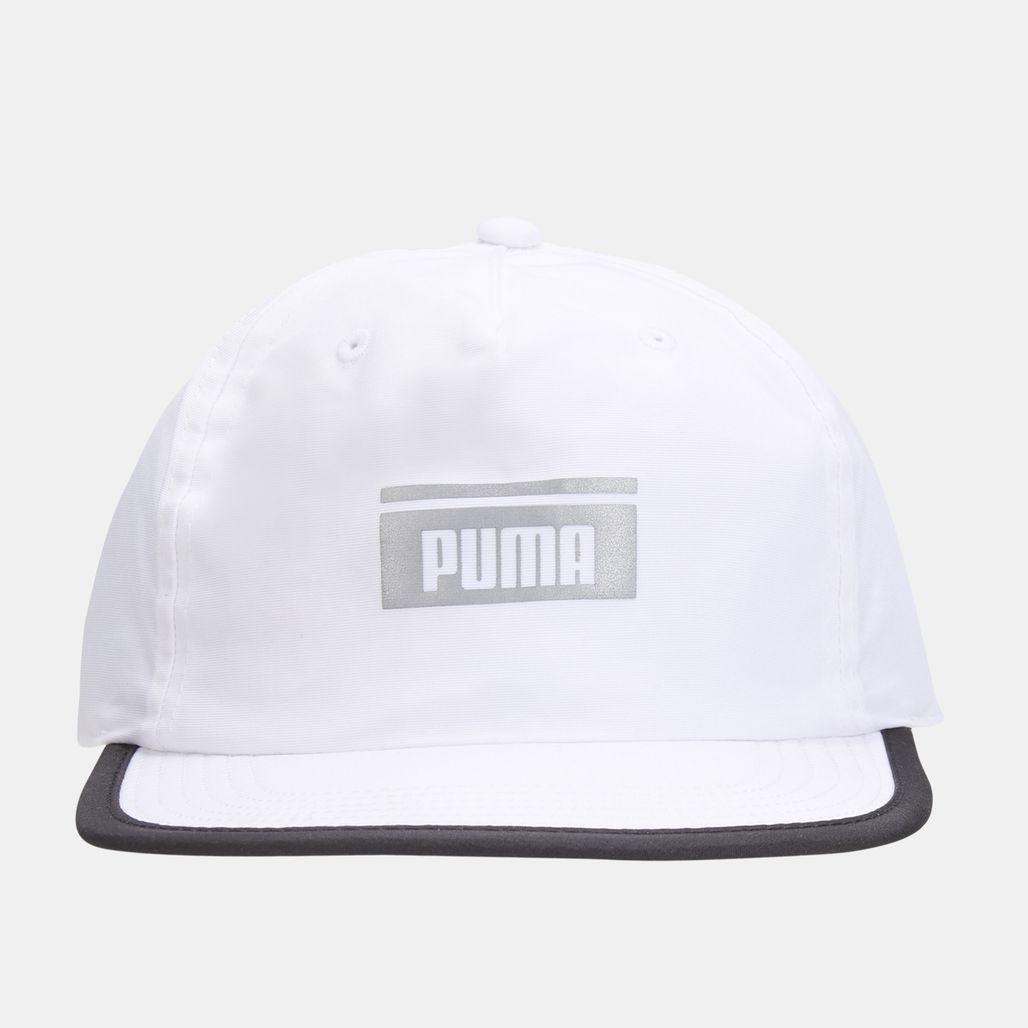 PUMA Pace Flat Brim Cap - White