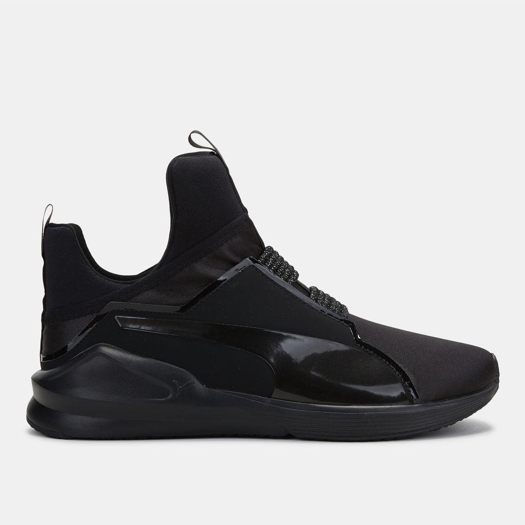 Shop Black PUMA En Pointe Fierce Satin Training Shoe for Womens by ... 43648d2a6