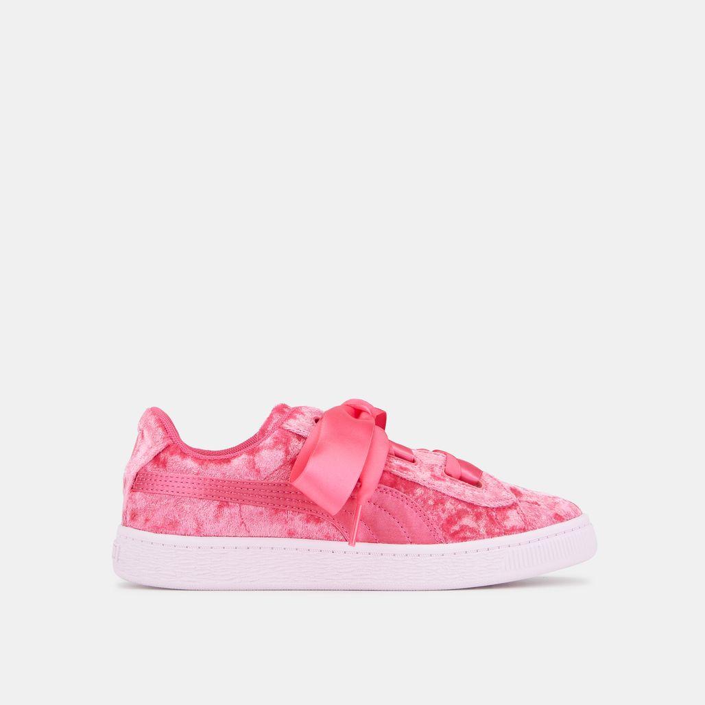 PUMA Kids' Basket Heart Velvet Shoe