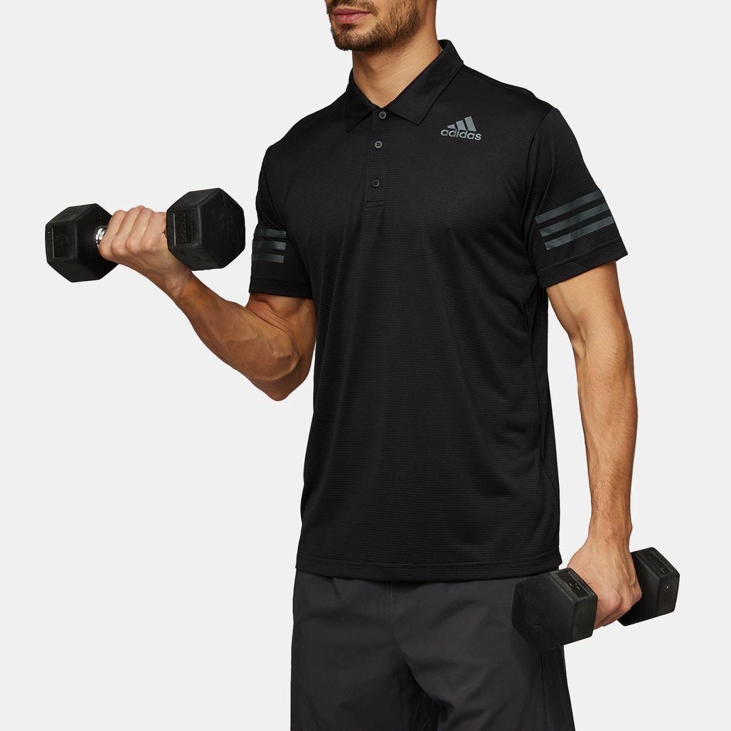 d97bd11646996 Shop Black adidas Climacool Polo T-Shirt for Mens by adidas - 1