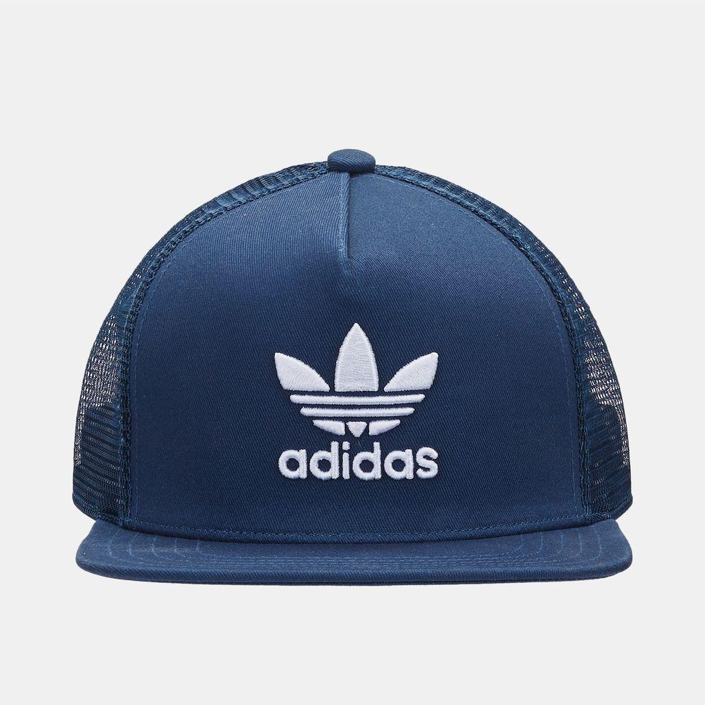 65d64125a06 Shop Blue adidas Originals Trefoil Trucker Cap for Unisex by adidas ...