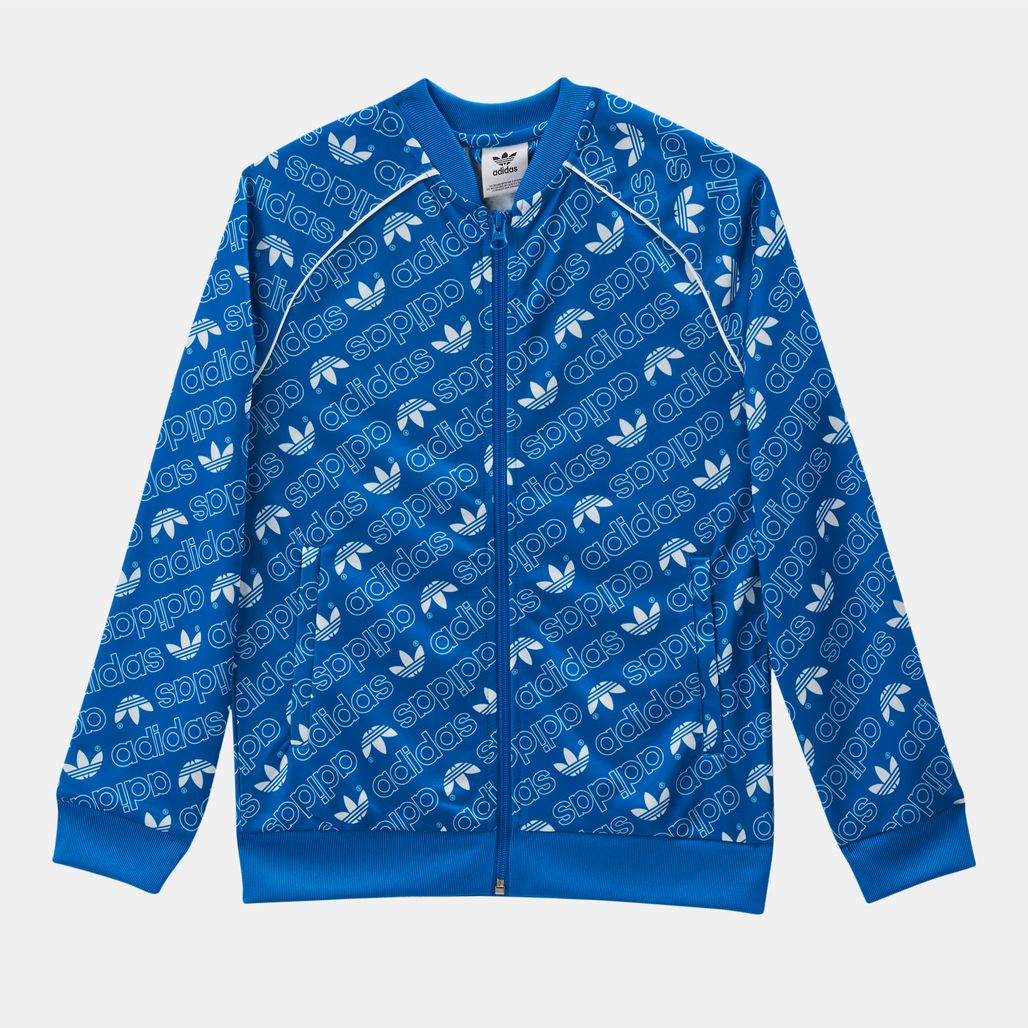 adidas Originals Kids' Trefoil Monogram SST Track Jacket