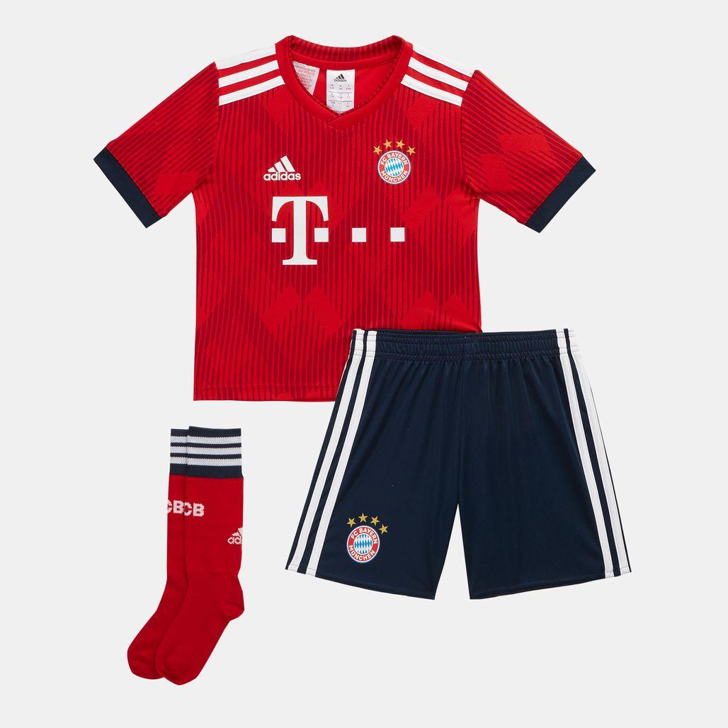 adidas Kids' FC Bayern Mini Home Football Kit - 2018/19