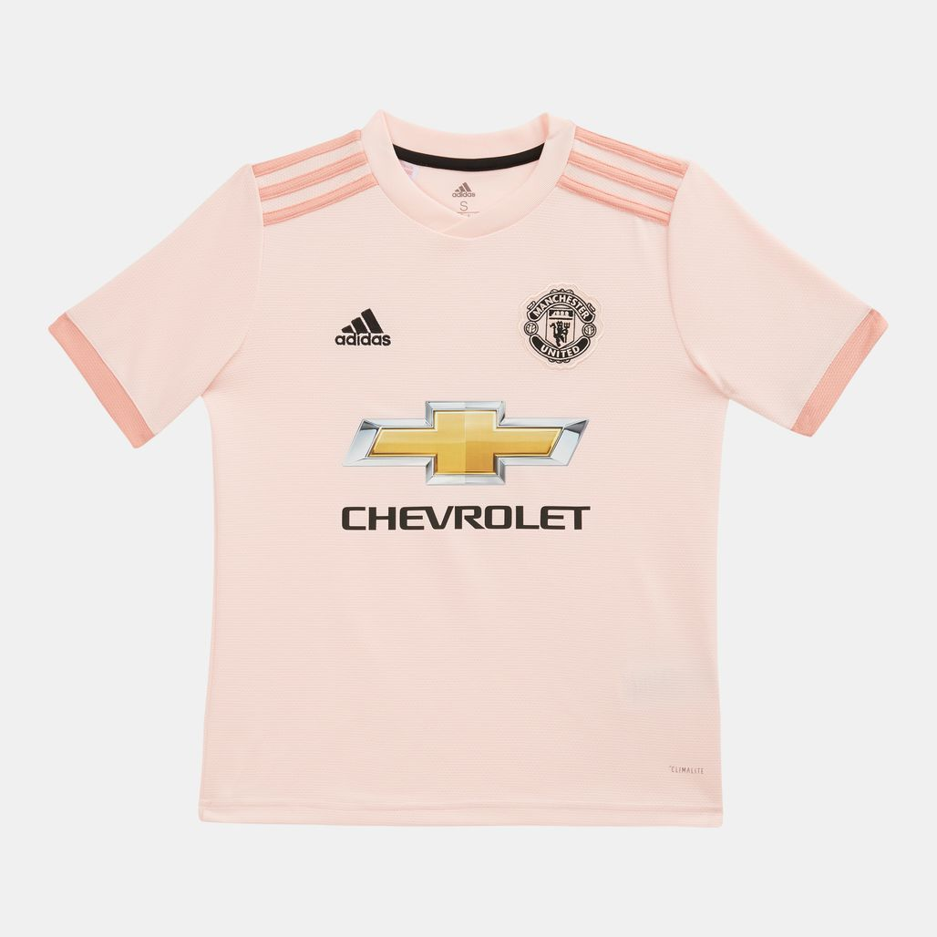 adidas Kids' Manchester United Away Football Jersey 2018/19
