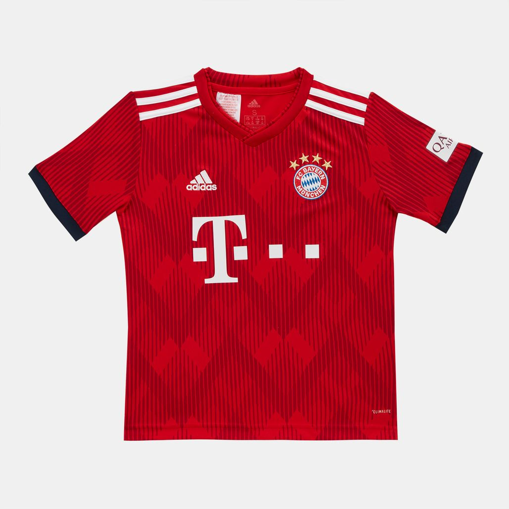 adidas Kids' FC Bayern Home Replica Jersey - 2018/19