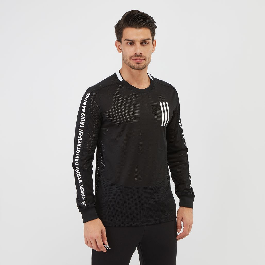 adidas Sport ID 3-Stripes Long Sleeve T-Shirt