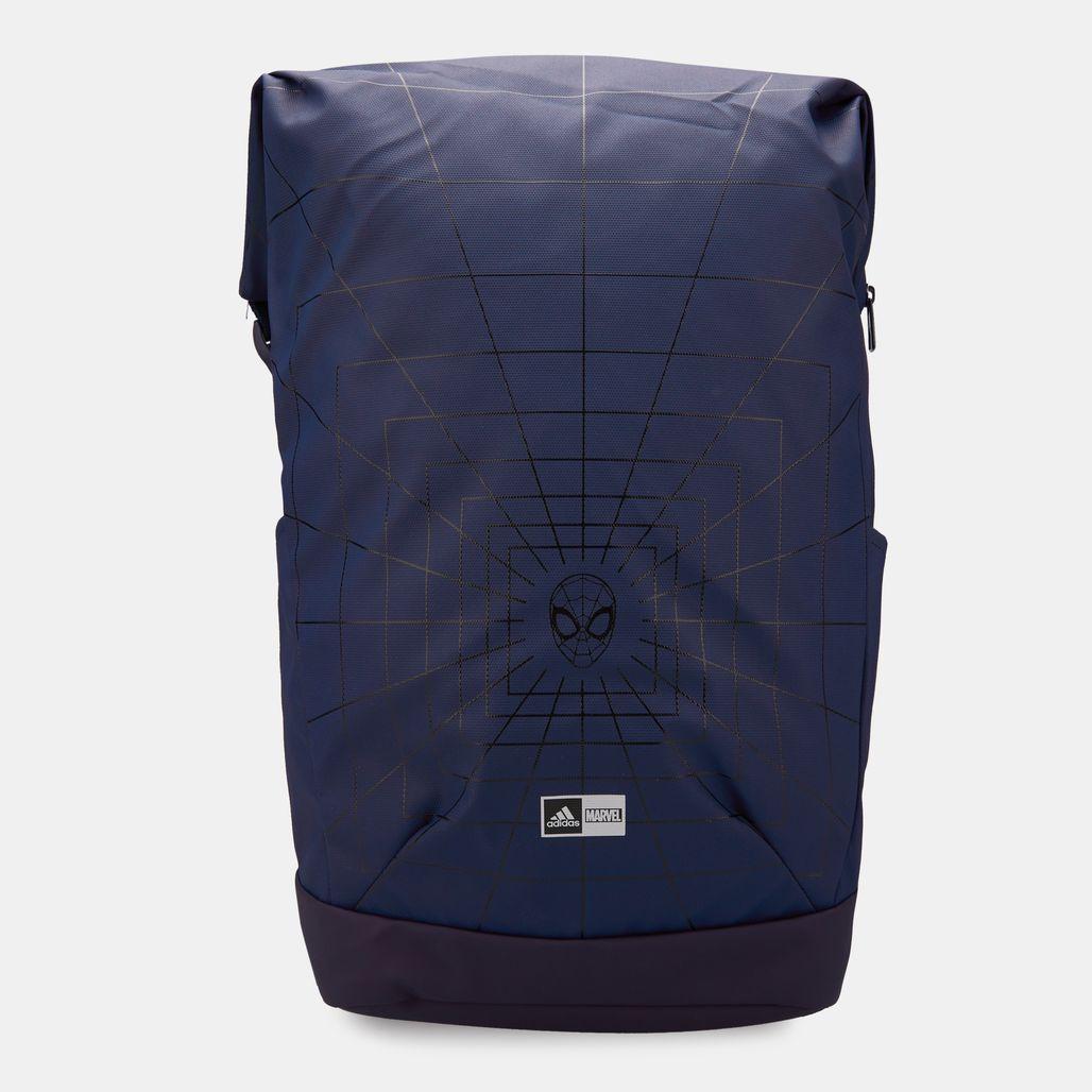 حقيبة الظهر مارفل سبايدر-مان من اديداس للاطفال - أزرق