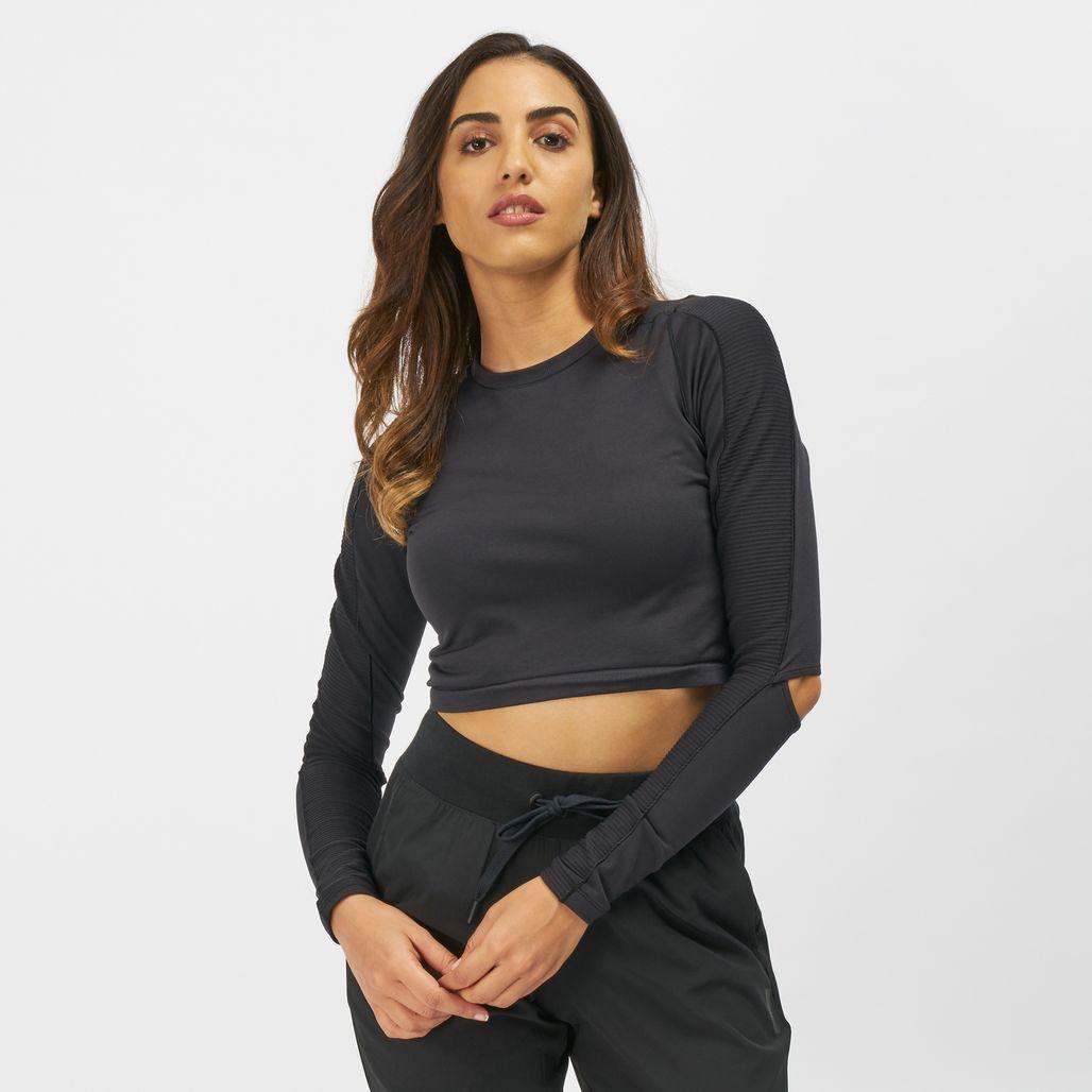 Reebok Long Sleeve Cropped Studio T-Shirt