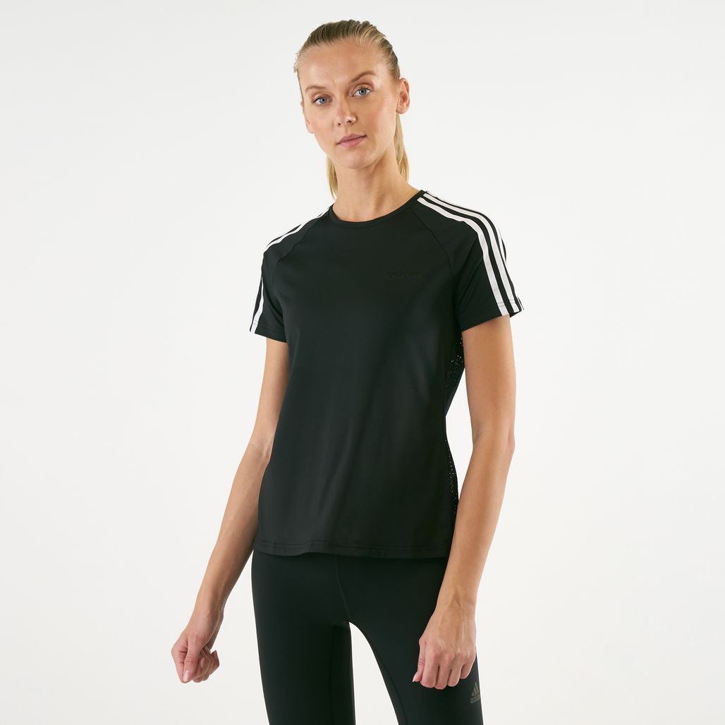 adidas Women's Design 2 Move 3-Stripes T-Shirt