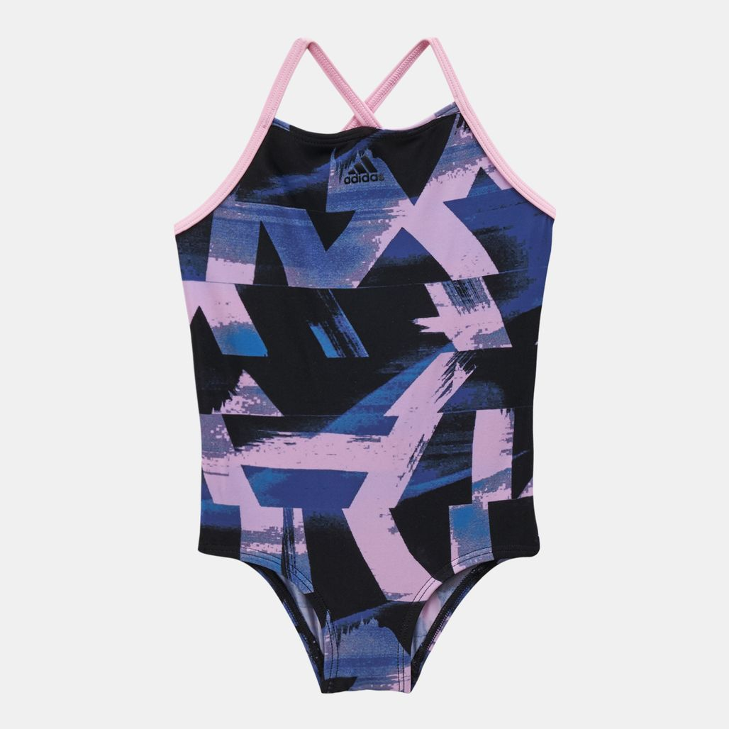 adidas Kids' Allover Print Swimsuit (Younger Kids)