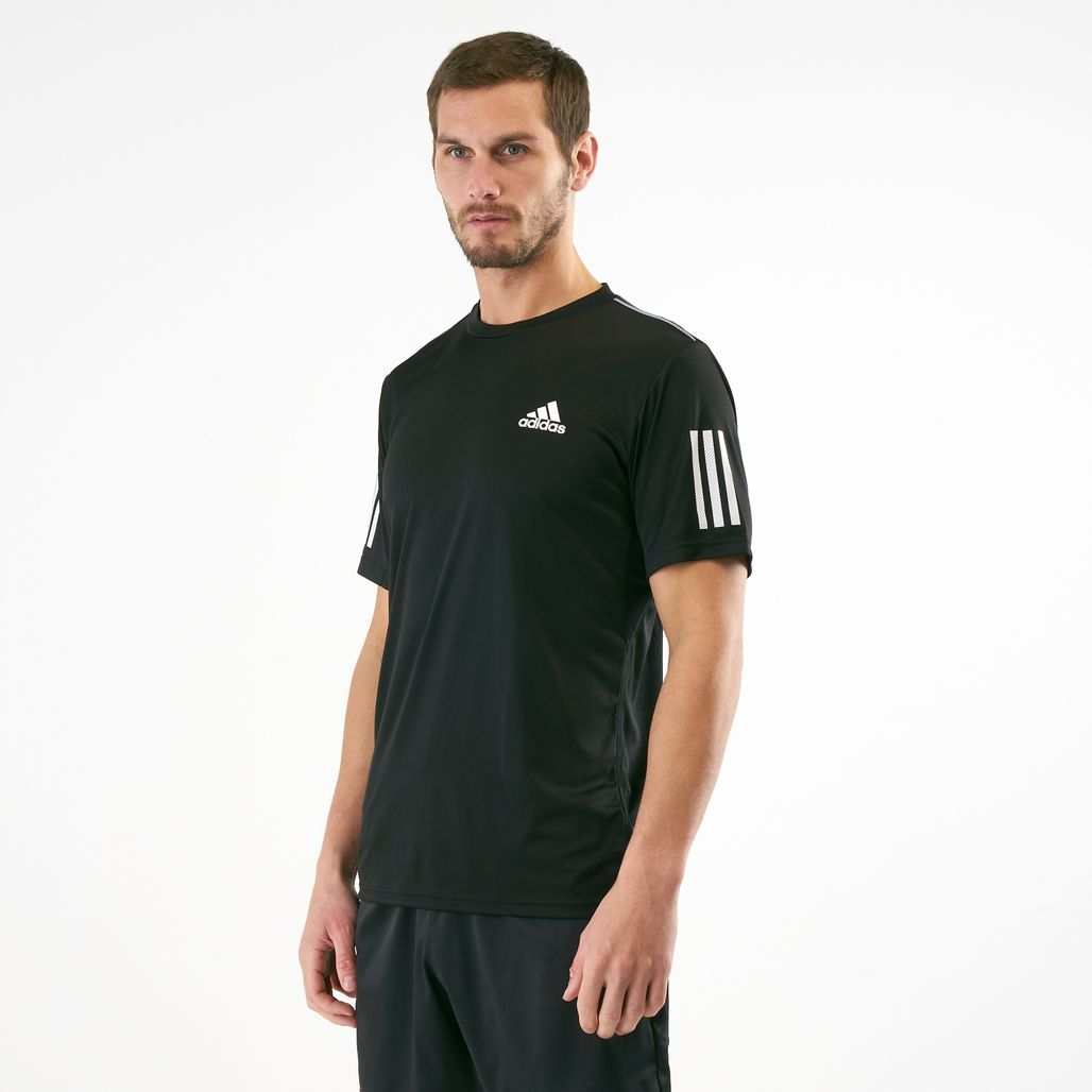 adidas Men's 3-Stripes Club Tennis T-Shirt