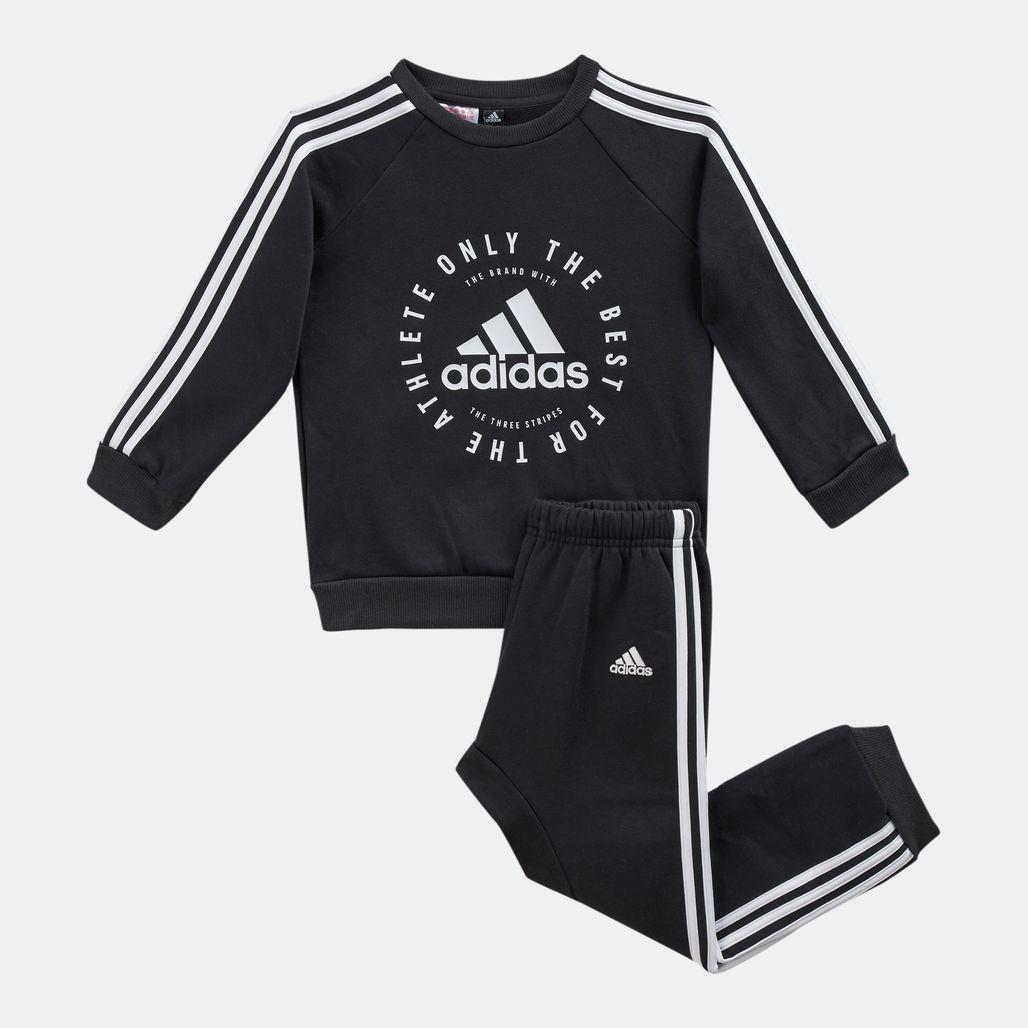 adidas Kids' 3-Stripes Fleece Jogger Set (Baby and Toddler)