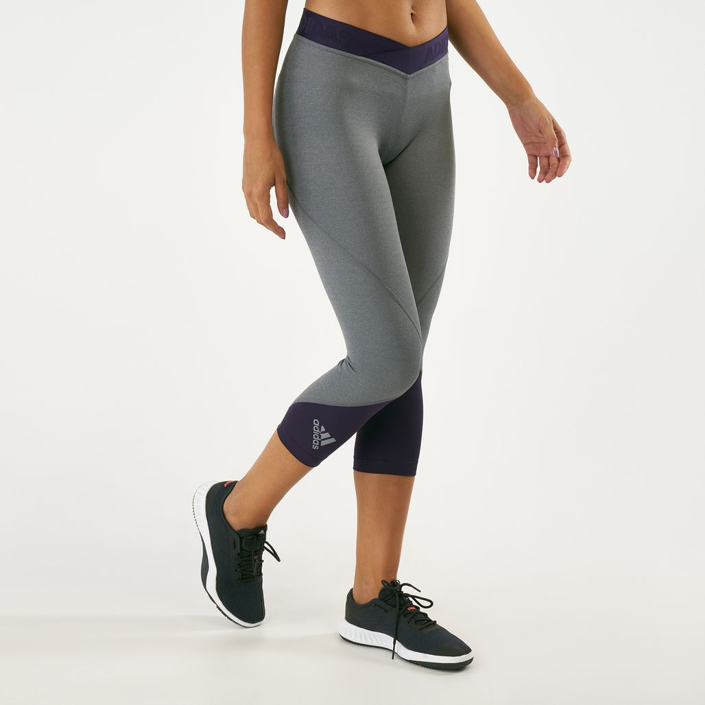 adidas Women's Alphaskin Sport 2.0 Three-Quarter Leggings