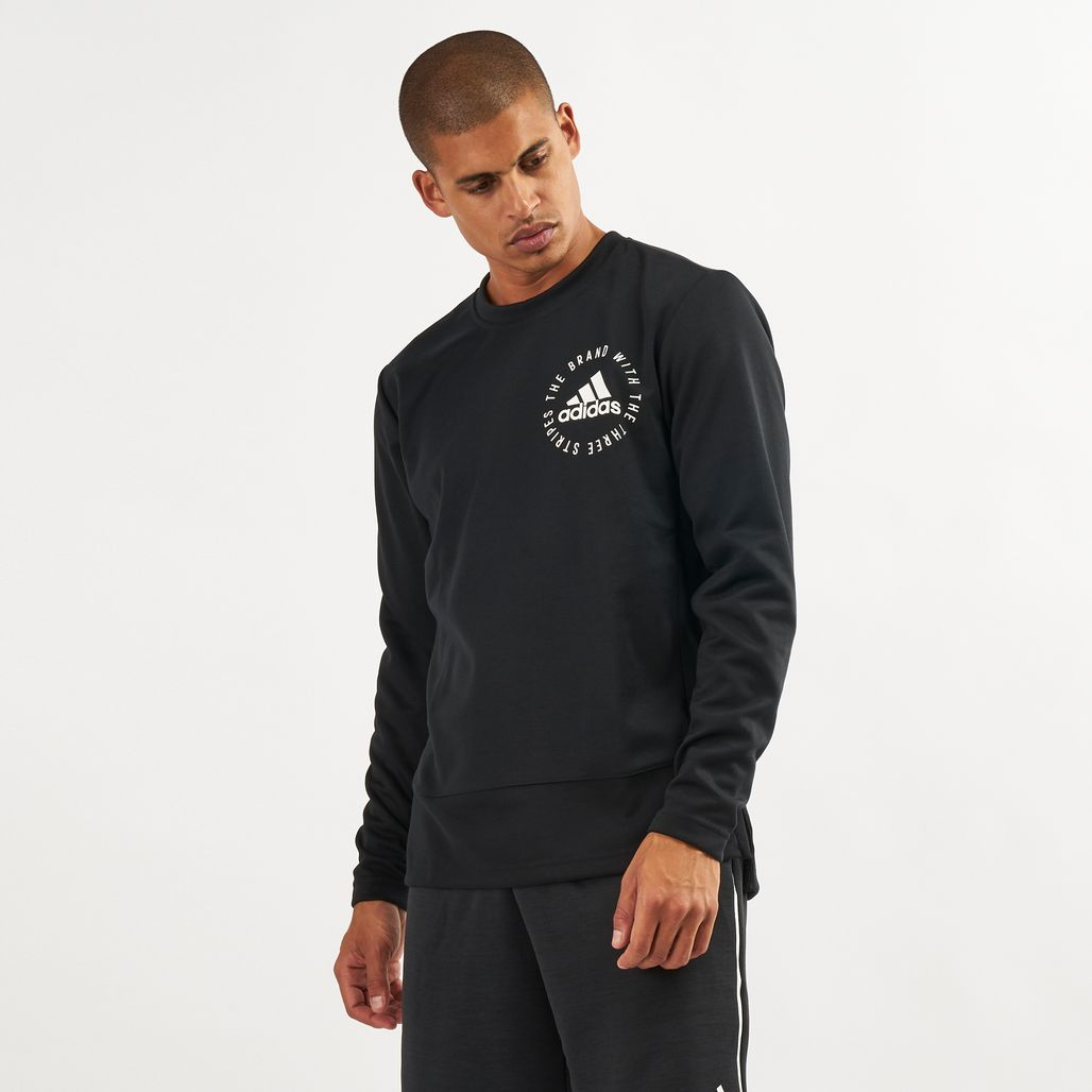 adidas Men's Sport ID Mesh Sweatshirt