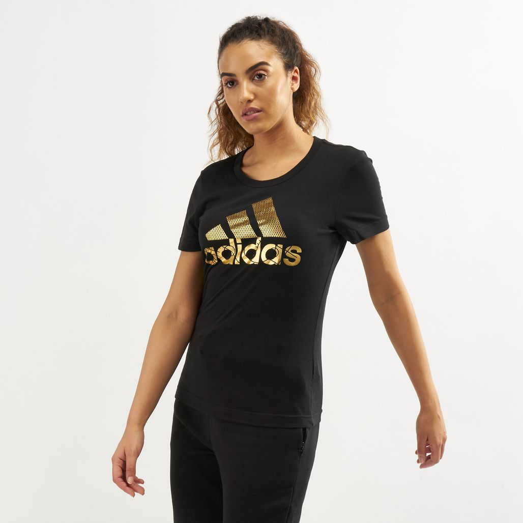 adidas Women's Badge of Sports Foil T-Shirt
