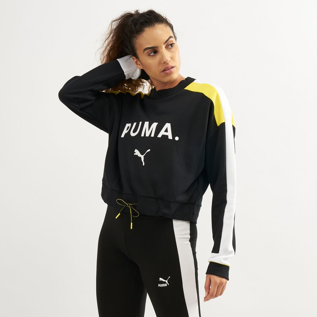 PUMA Women's Chase Crew Cotton Sweatshirt