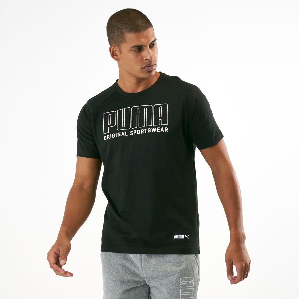PUMA Men's Athletics Big Logo T-Shirt