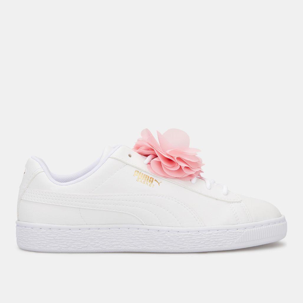 PUMA Kids' Basket Flower Shoe (Older Kids)