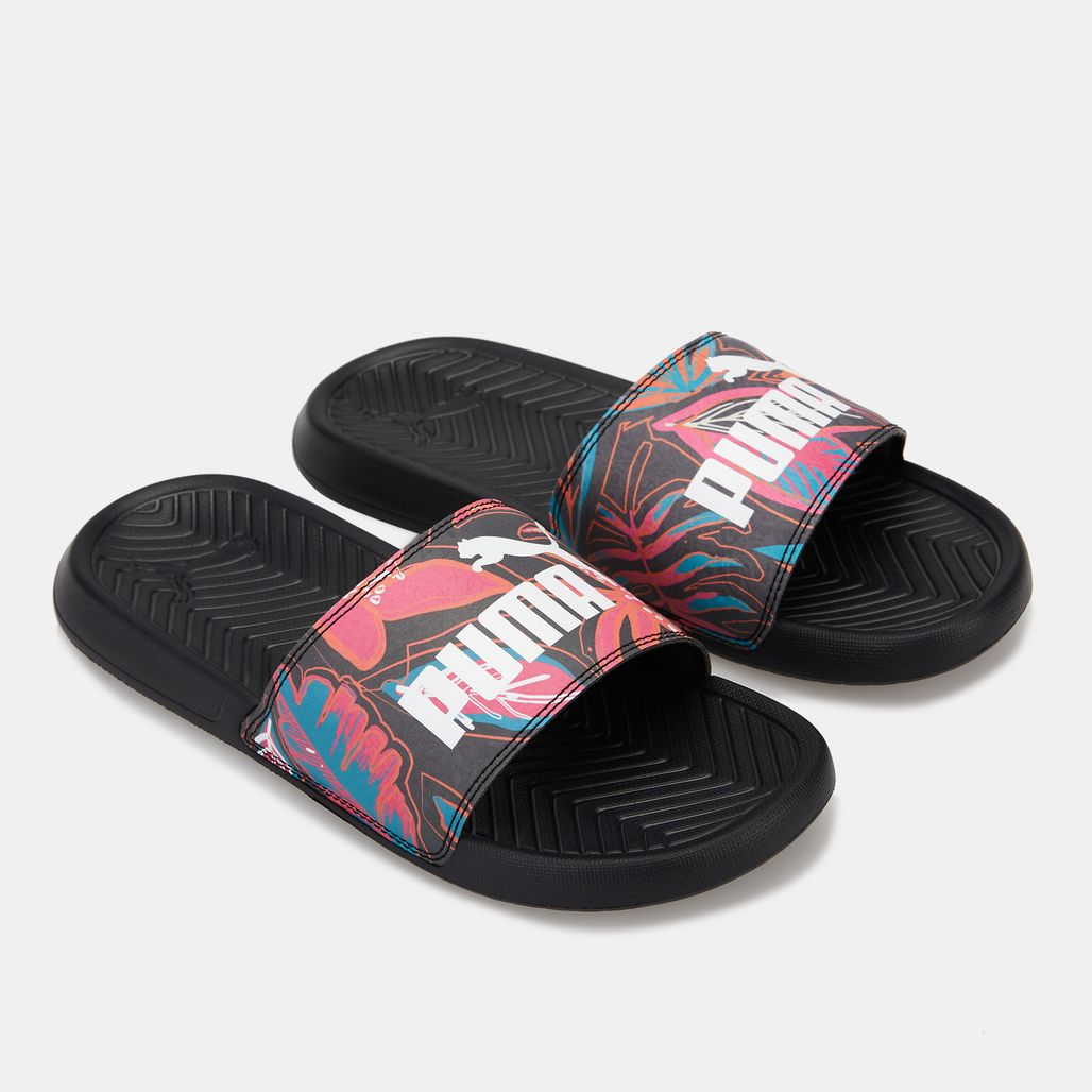 PUMA Women's Popcat Flower Power Slides