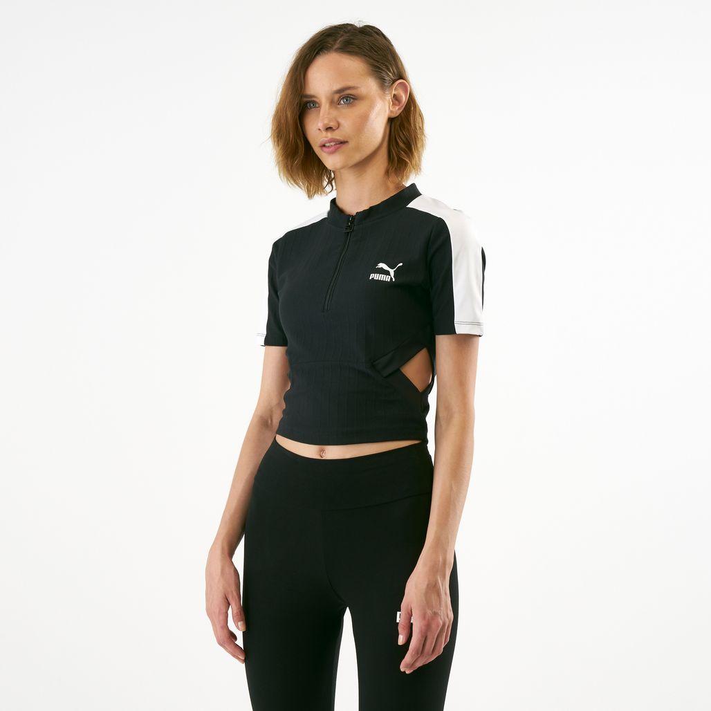 PUMA Women's Classics Ribbed T-Shirt
