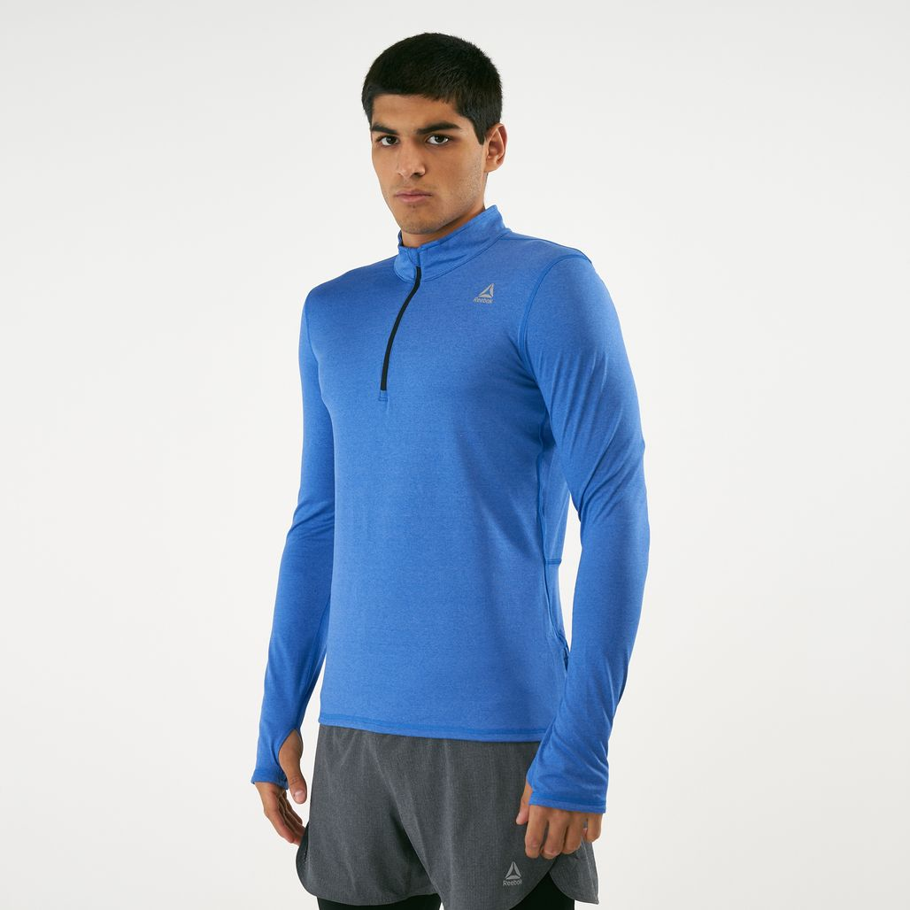 Reebok Men's Quarter Zip Long Sleeve T-Shirt