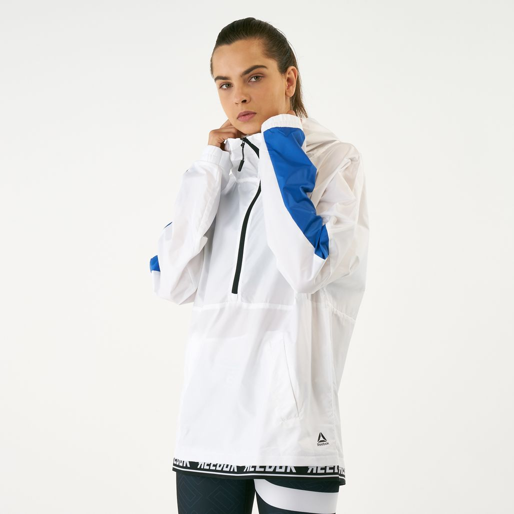Reebok Women's Work Out Ready Meet You There Novelty Woven Jacket