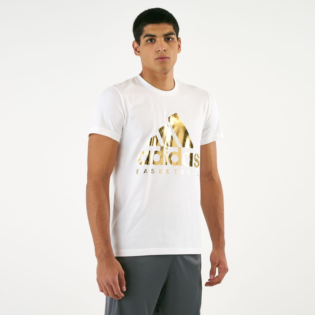 adidas Men's Gold Foil Badge Of Sport T-Shirt