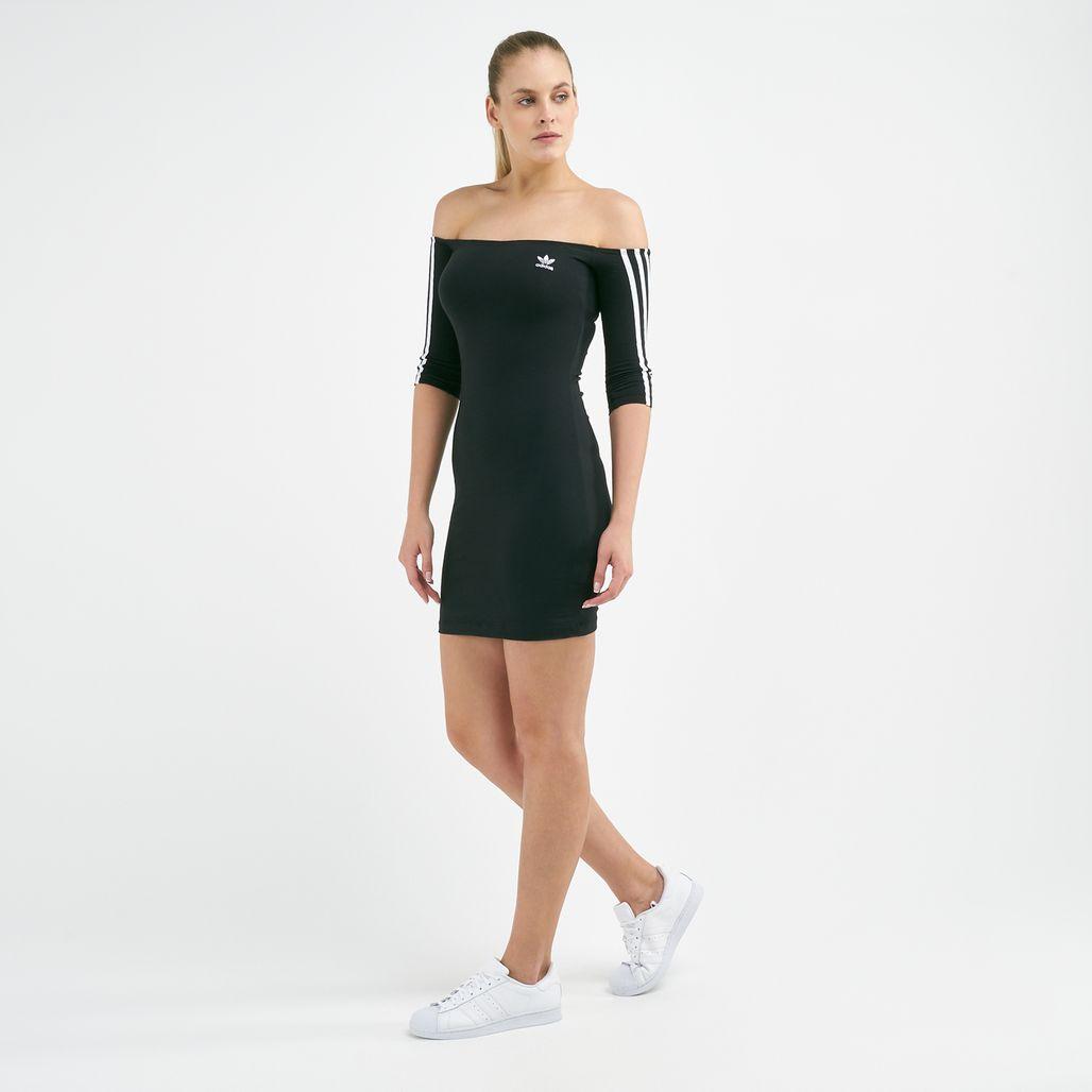 فستان أوف-ذا-شولدر من اديداس اورجينال للنساء