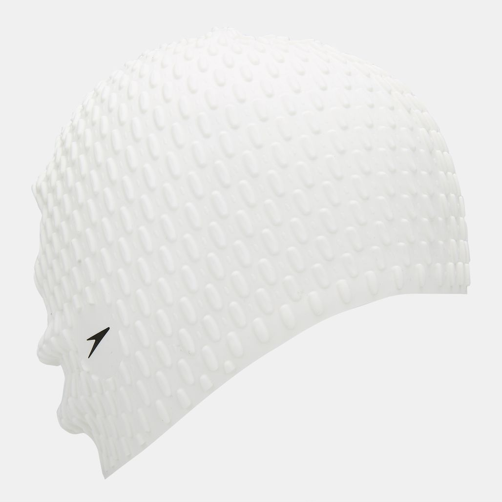 Speedo Bubble Swimming Cap - White