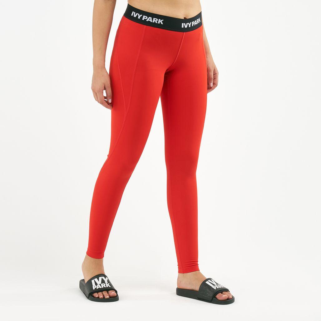 IVY PARK Women's I Low Rise Logo Elastic Web Ankle Leggings