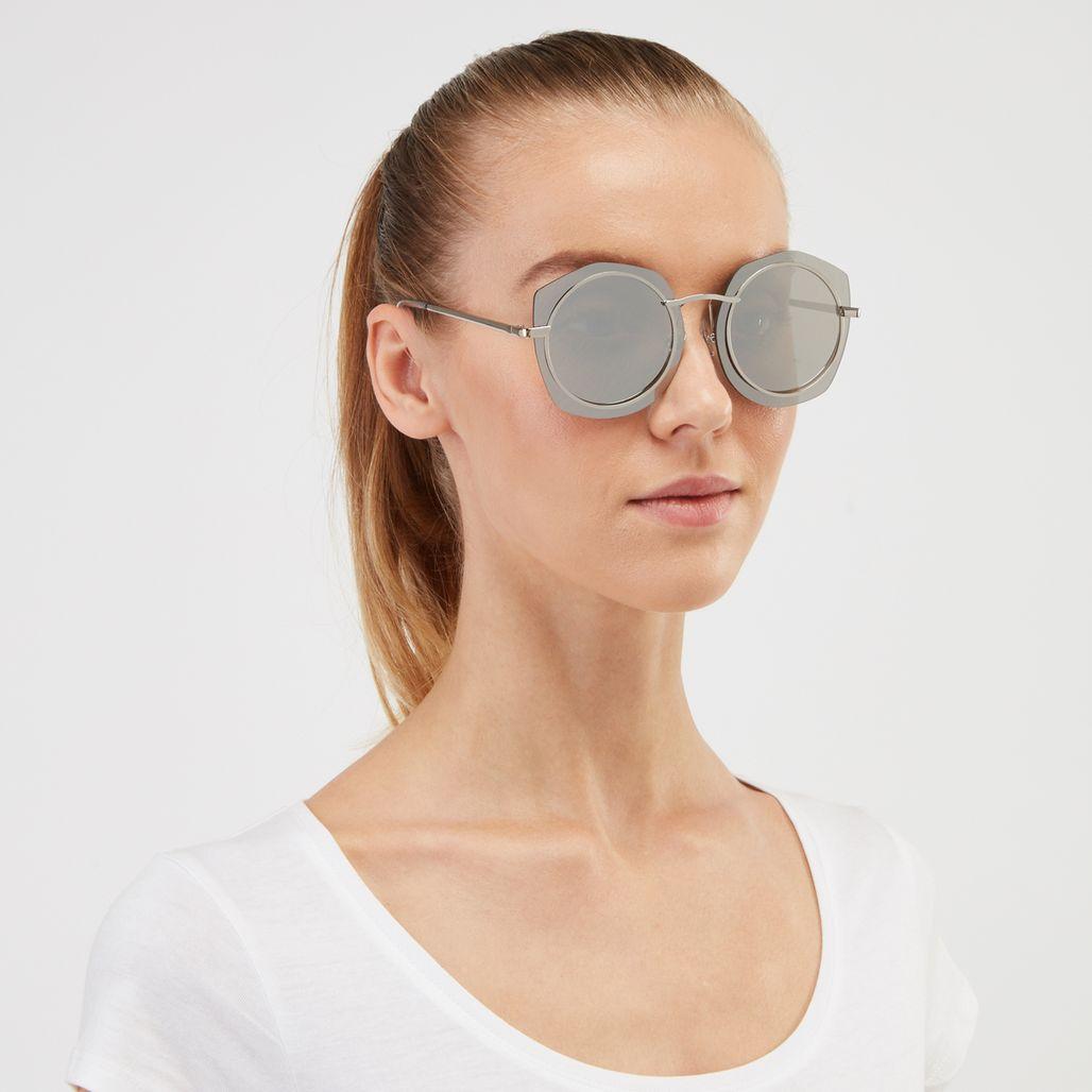 Jeepers Peepers Angular Sunglasses - Metallic