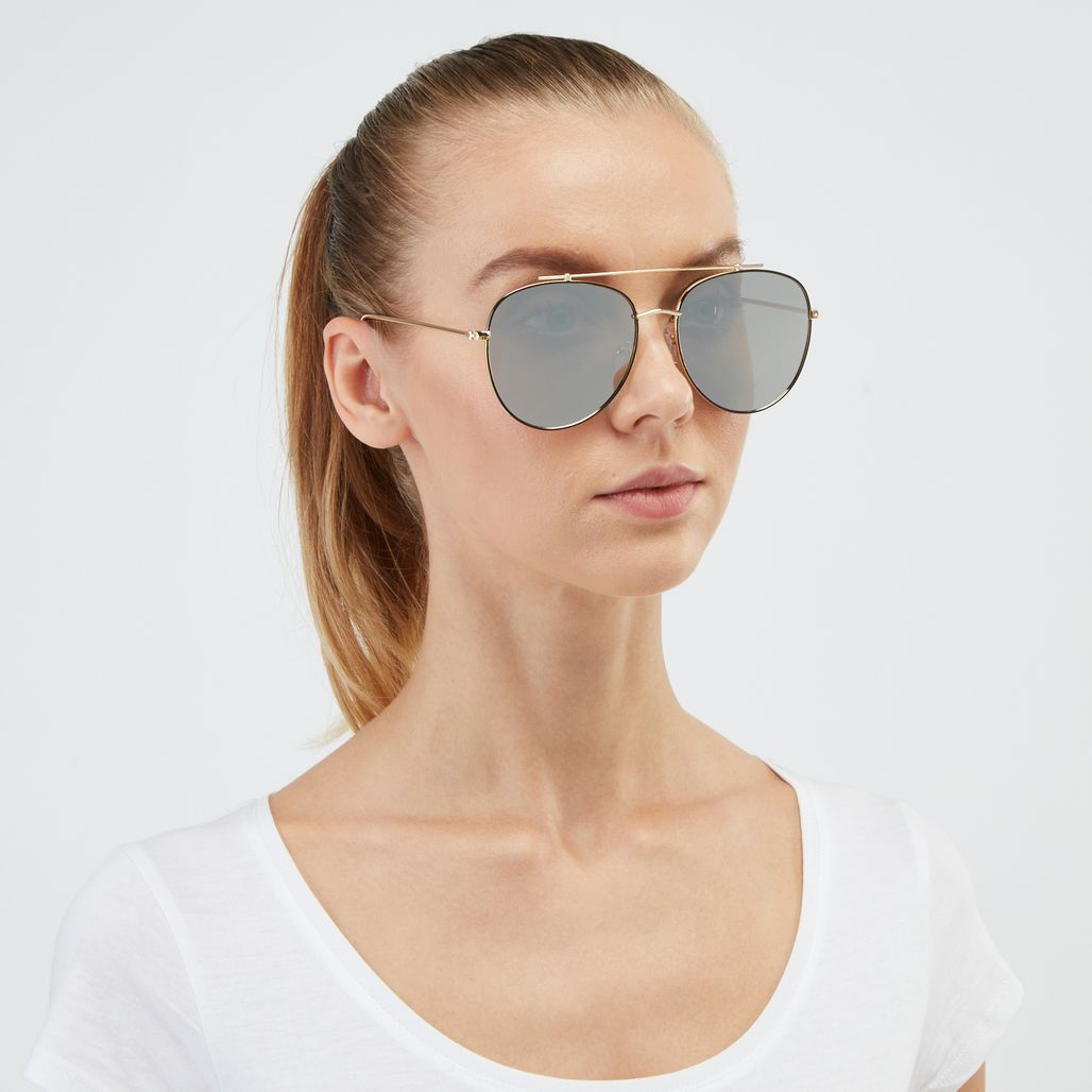 Jeepers Peepers Aviator Sunglasses - Metallic