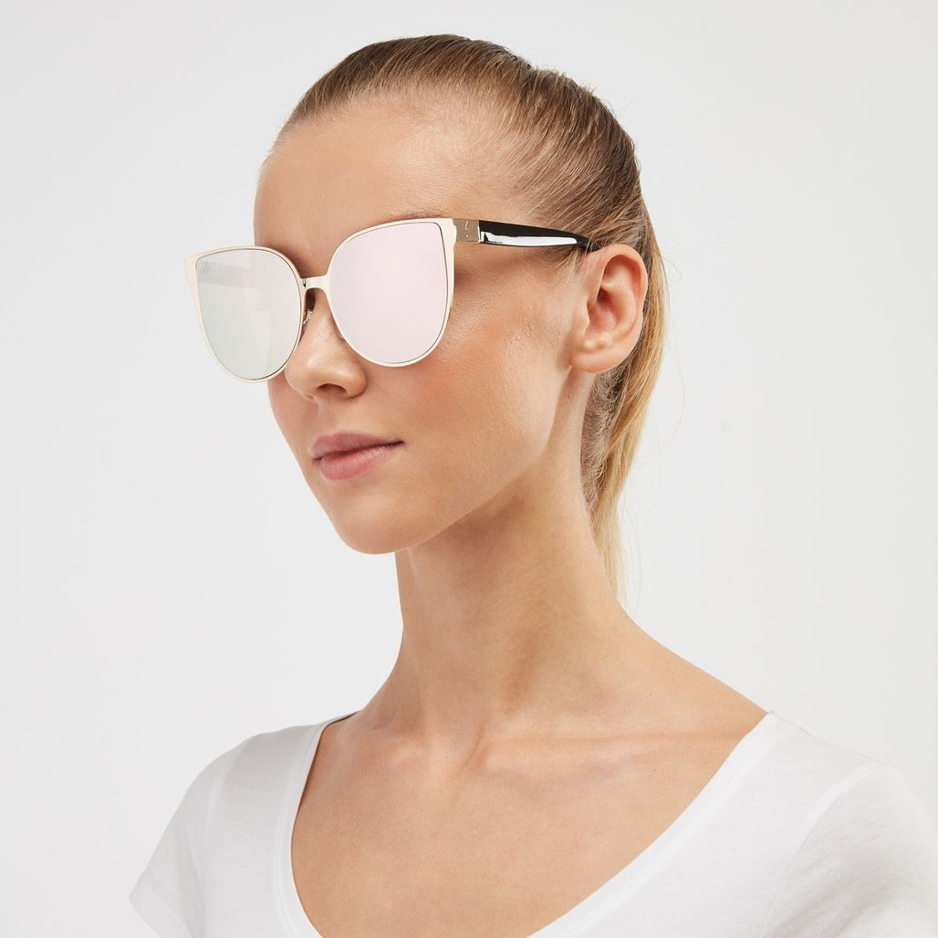 Jeepers Peepers Cat Eye Sunglasses - Gold