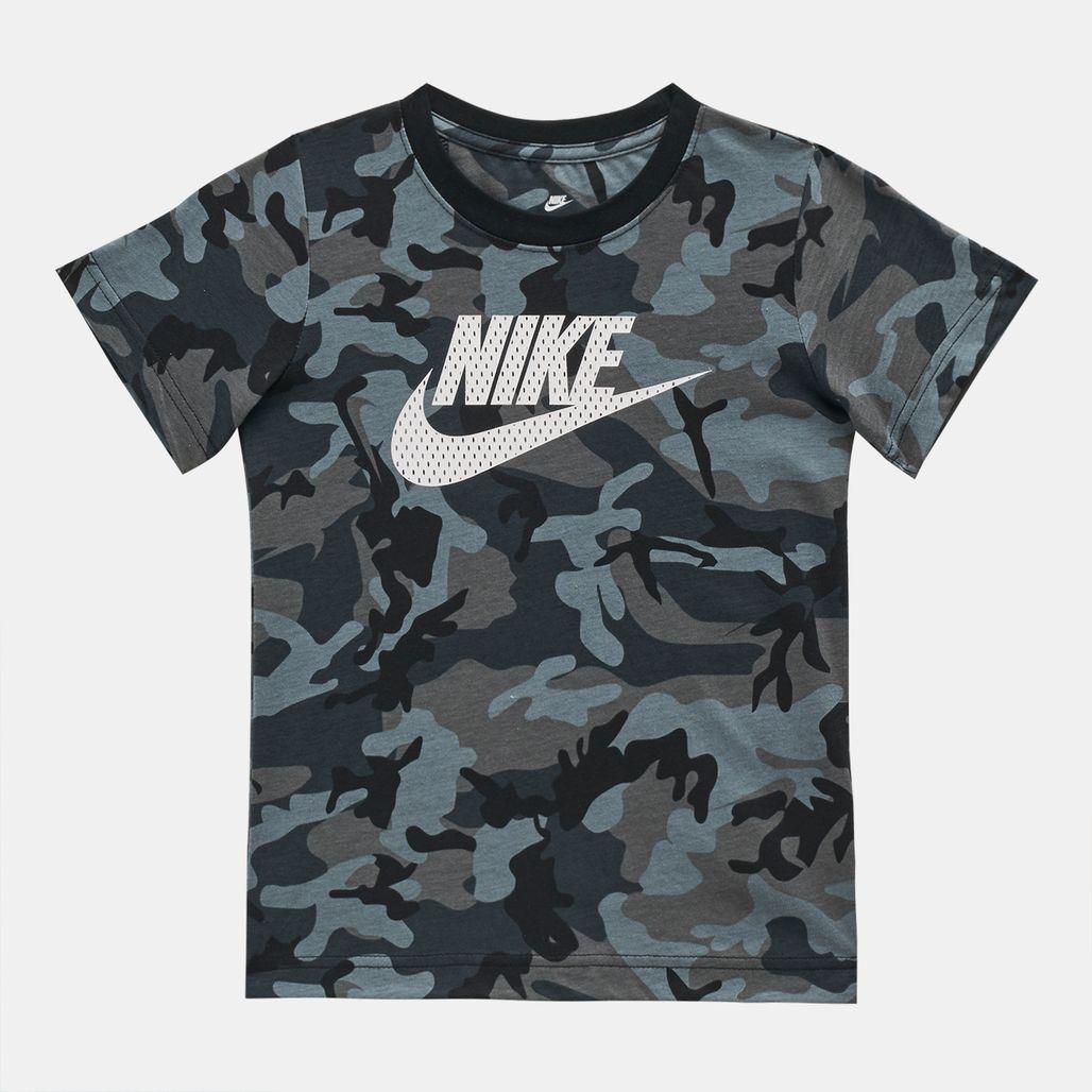 Nike Kids' Mesh Futura Camo Knit T-Shirt (Younger Kids)