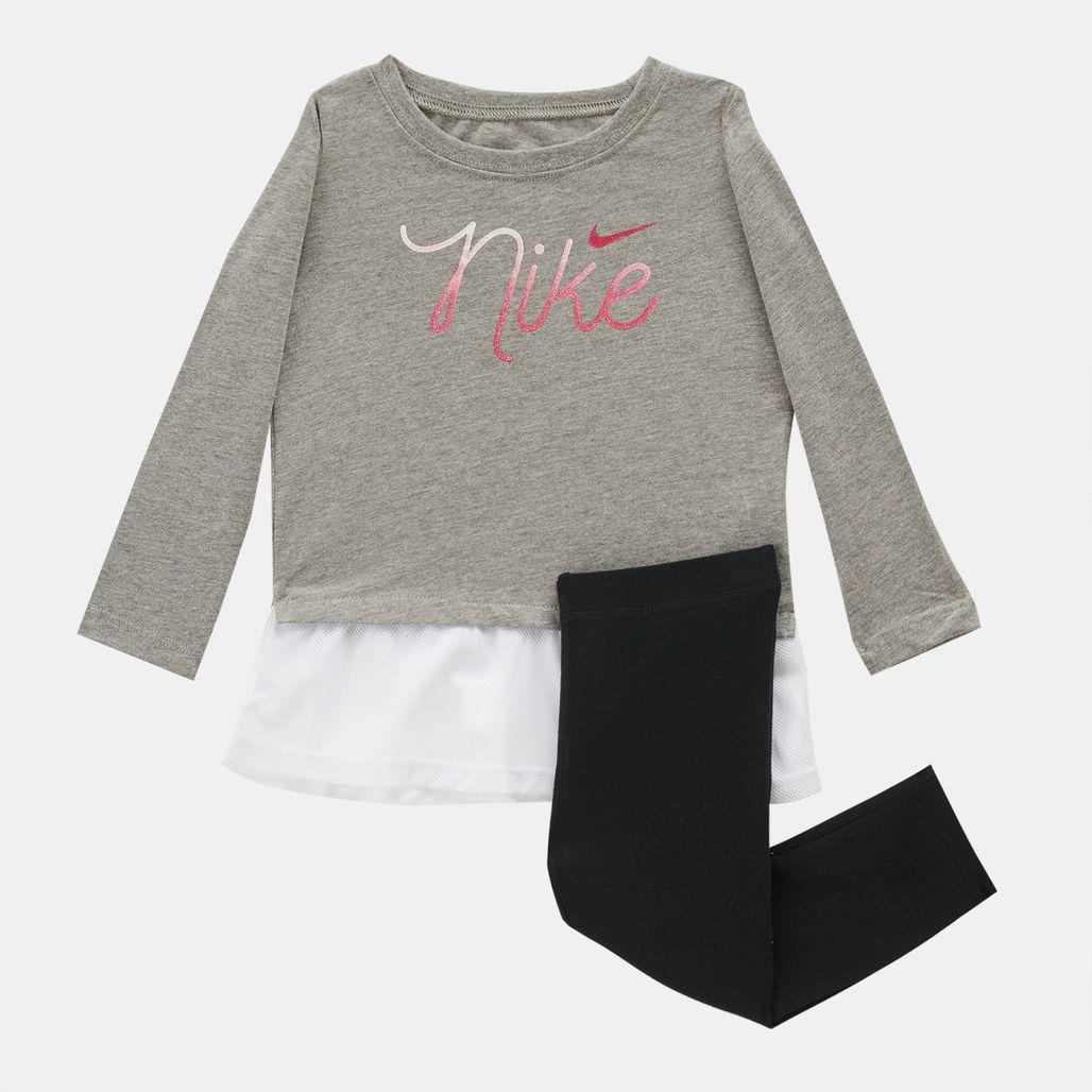 Nike Kids' Script Mesh Long Tunic And Leggings Set (Baby and Toddler)
