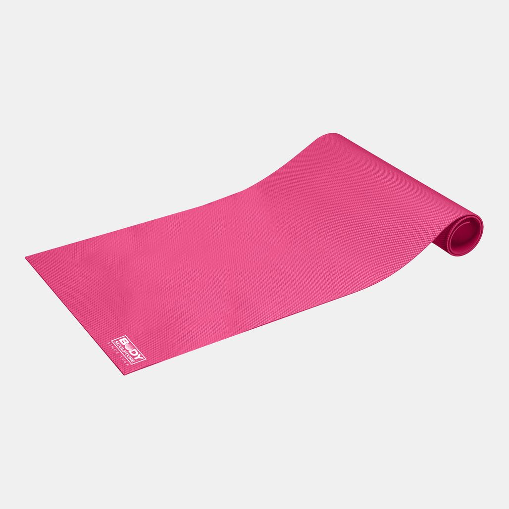 Body Sculpture Yoga Mat with Strap - Pink