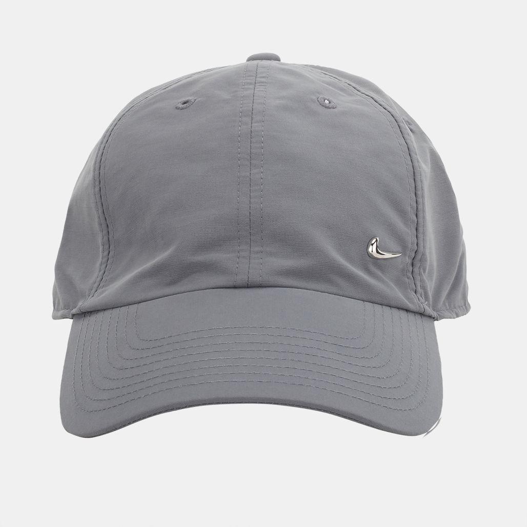 d190c76c130 Nike Metal Swoosh Logo Running Cap - Grey