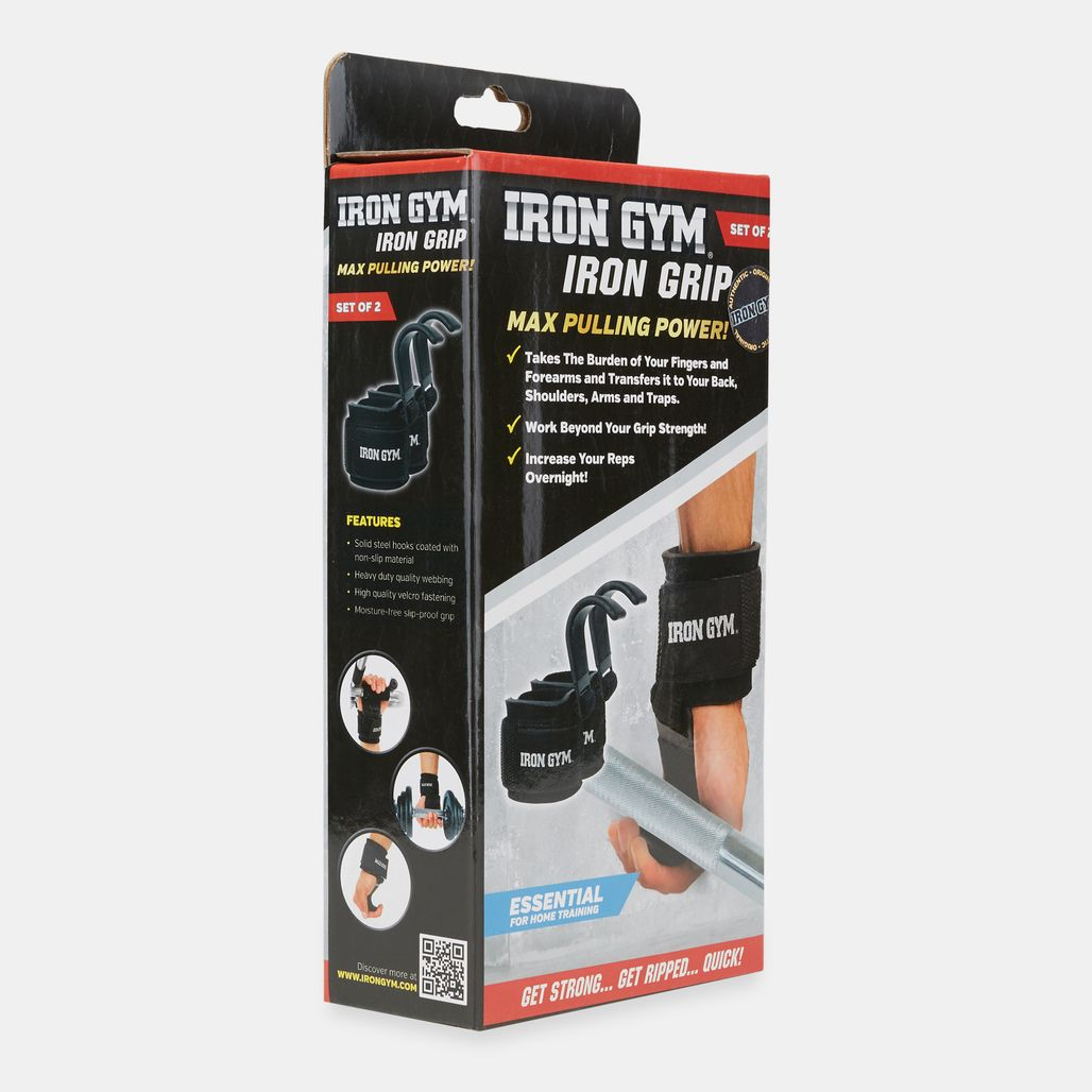 Iron Gym Iron Grip With Wrist Support - Black