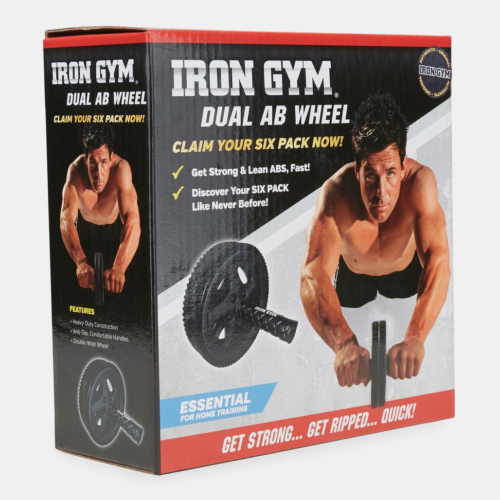Iron Gym Dual Ab Wheel - Black
