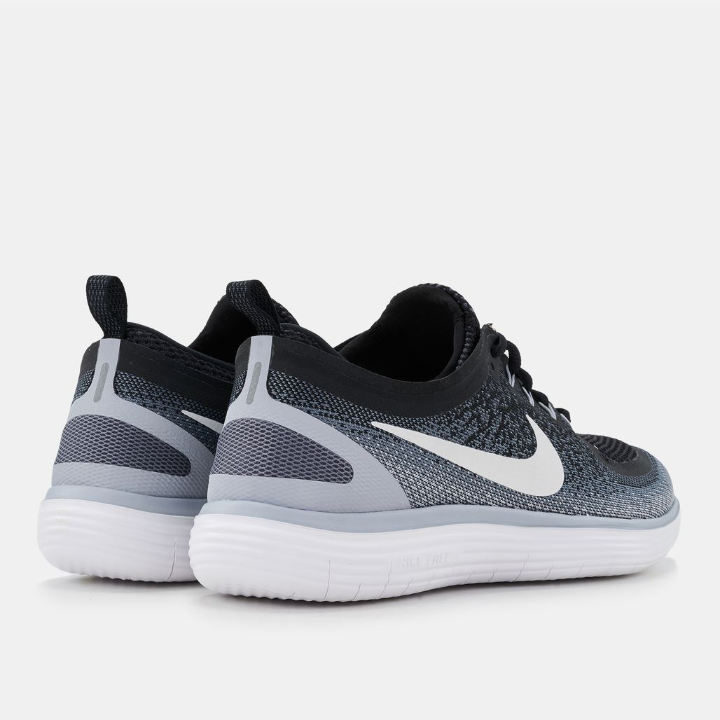 2413a05e3810 Shop Black Nike Free RN Distance 2 Running Shoe for Mens by Nike