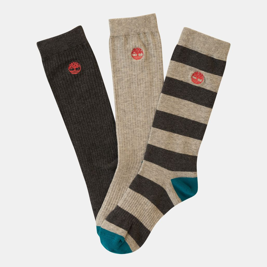 Timberland Men's Striped Casual Crew Socks (3 Pack)