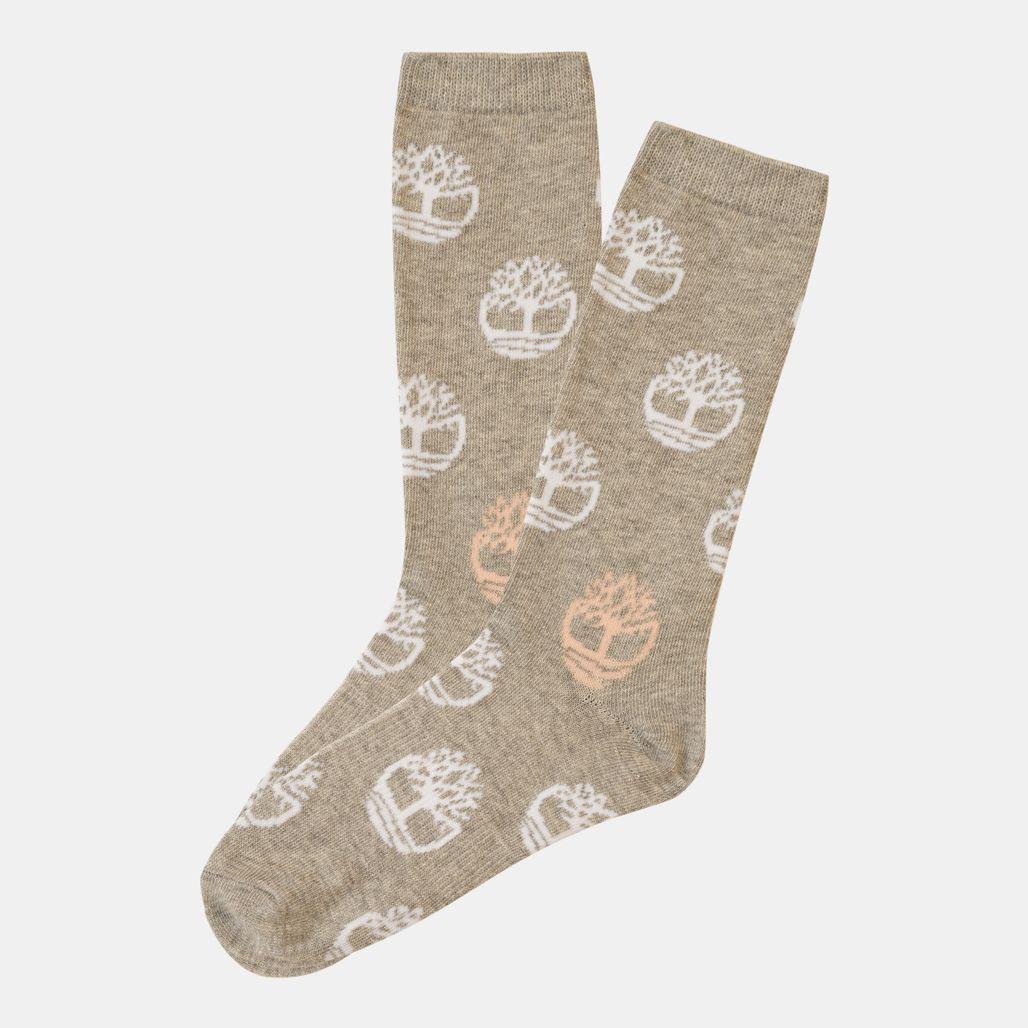 Timberland Women's Tree-Logo Crew Socks