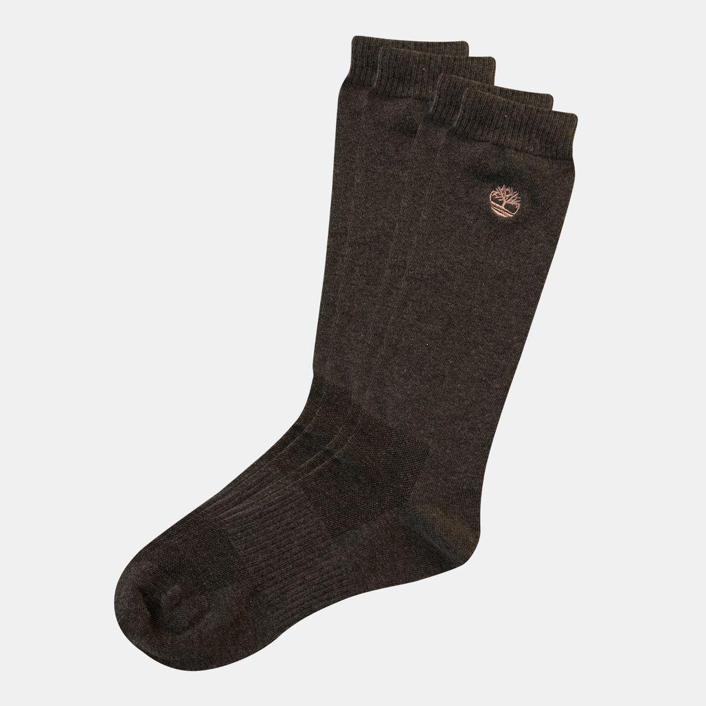 Timberland Men's Embroidered Logo Crew Socks (2 Pack)