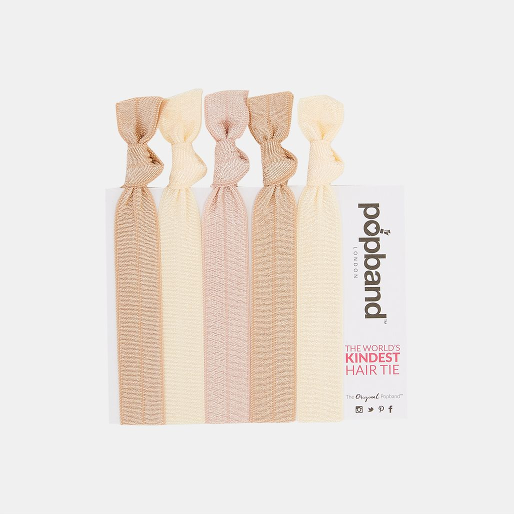 Popband Blondie Hair Bands (5 Pack) - Beige