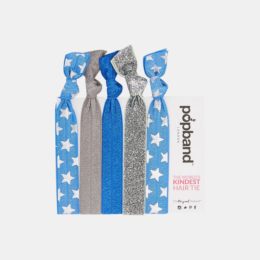 Popband Cheerleader Hairbands (5 Pack) - Blue