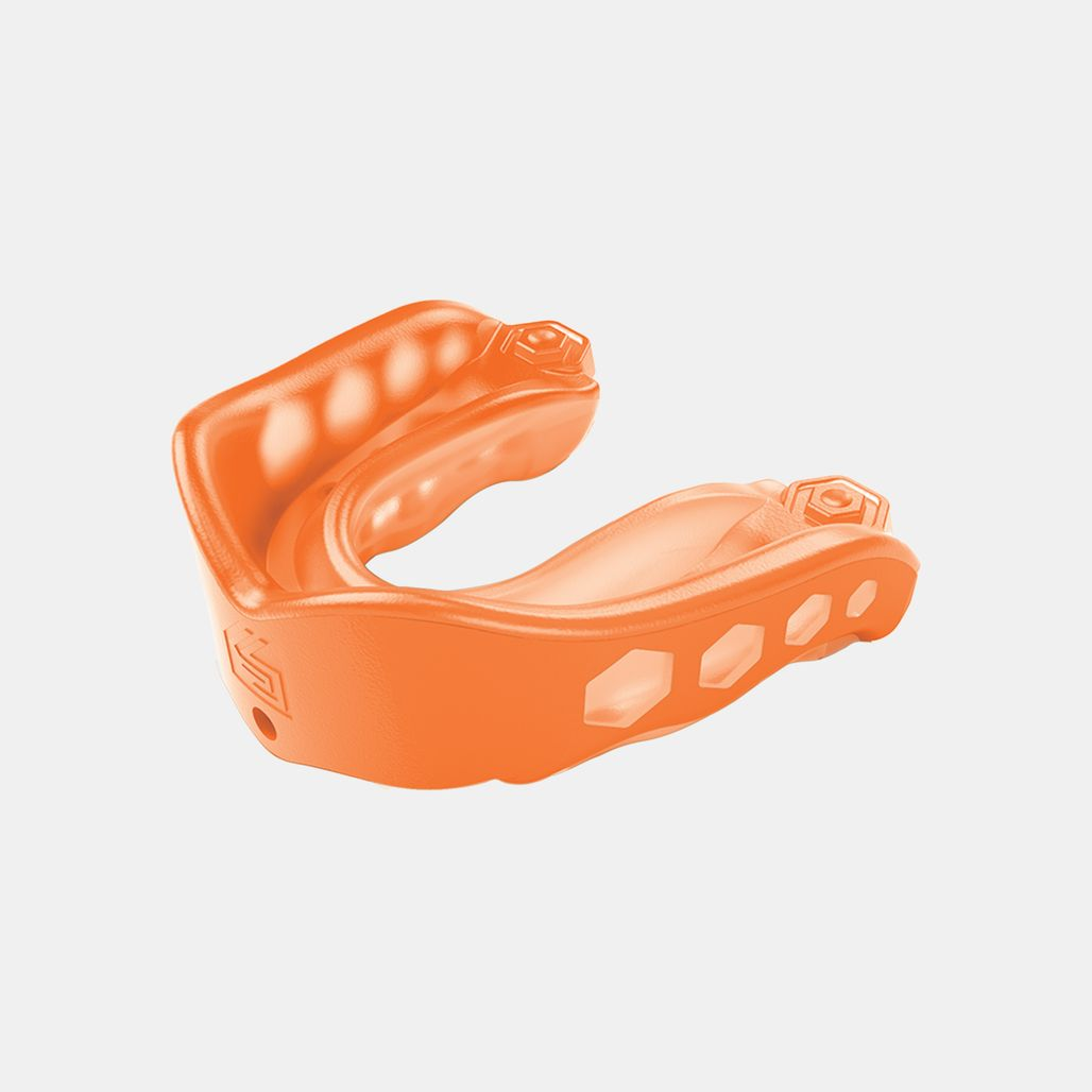 Shock Doctor Adult Gel Max Convertible Strap/Strapless Mouthguard - Orange