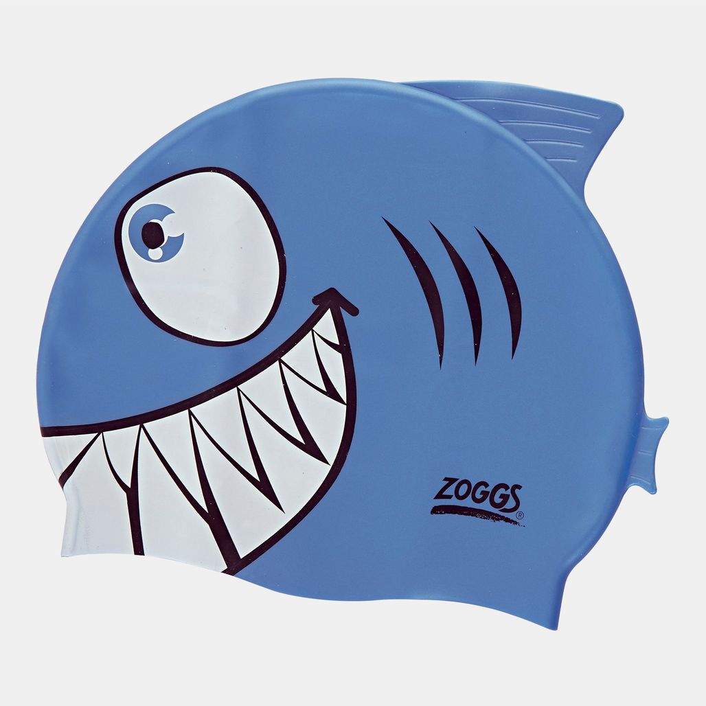Zoggs Kids' Junior Character Silicone Cap (Younger Kids) - Grey