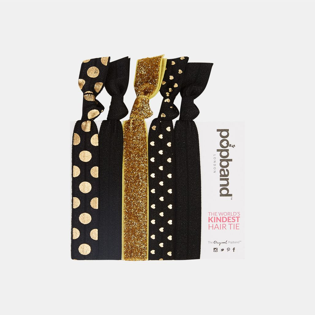 Popband Black Magic Hair Bands (5 Pack) - Black