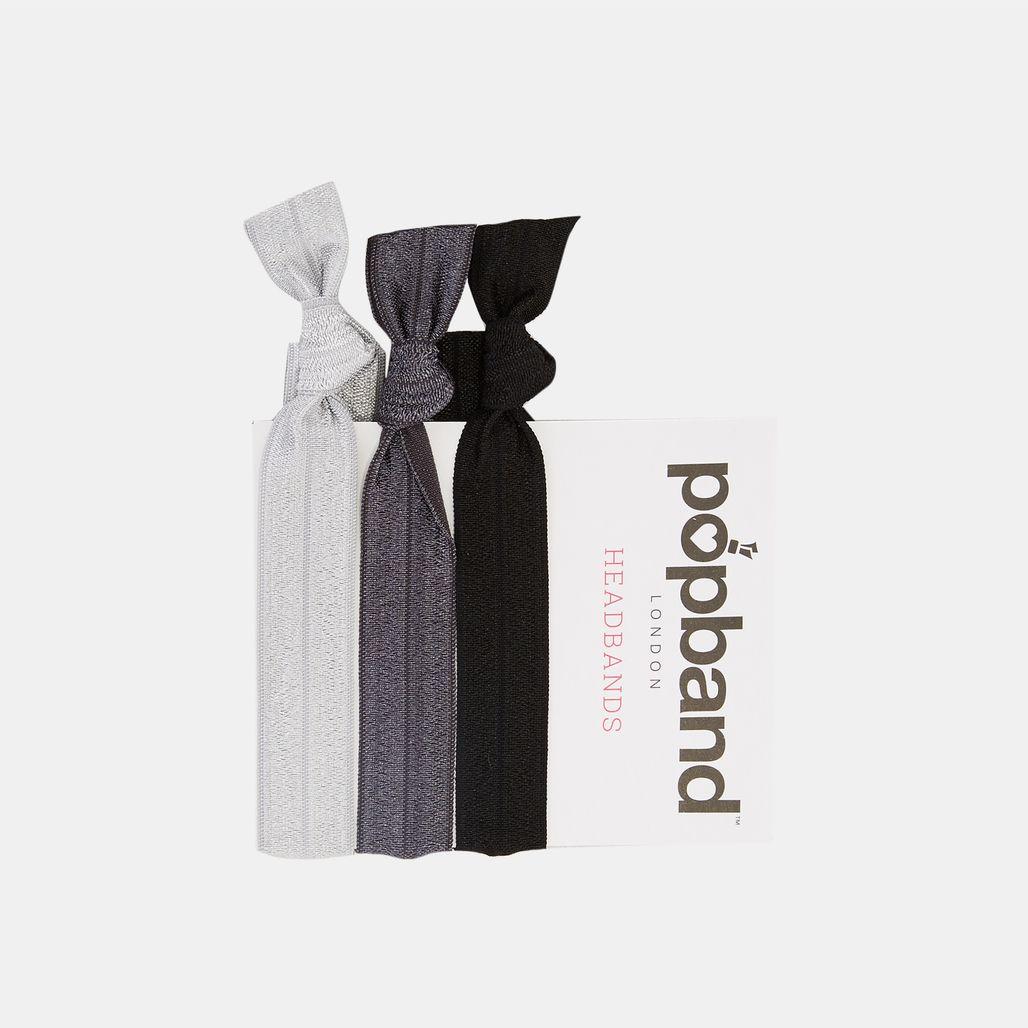Popband Black Headbands (3 Pack) - Black