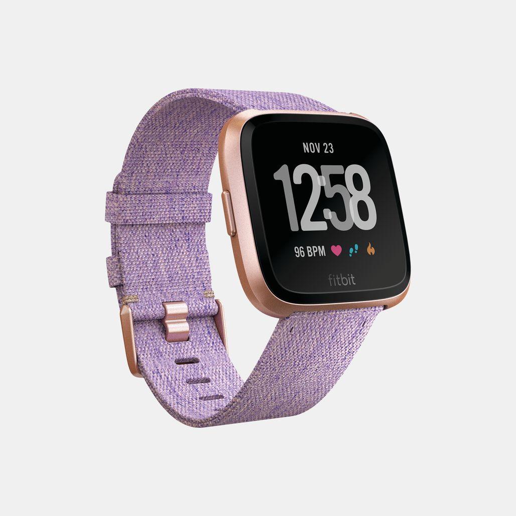 Fitbit Versa Special Edition Lavender Woven Smart Watch - Purple